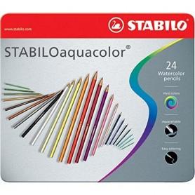 Stabilo 1624 - Pastelli Acquacolor Scatola Metallo 24 Colori