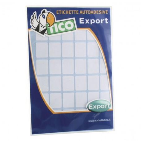 Tico 10 - Busta Etichette Bianche Autoadesive Assortite