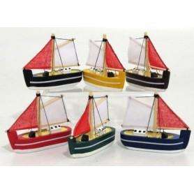 Zambiasi 70459 - Barca a Vela Legno 8 cm.