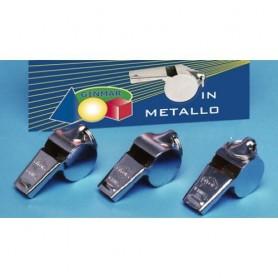 Ginmar 85202 - Fischietto Metallo con Gancetto Conf.12 pz.