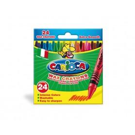 Carioca 42366 - Pastelli a Cera Conf.24 pz.