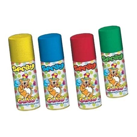Ciao 40010 - Carnevale - Stelle Filanti Spray 83 ml. Colori Assortiti