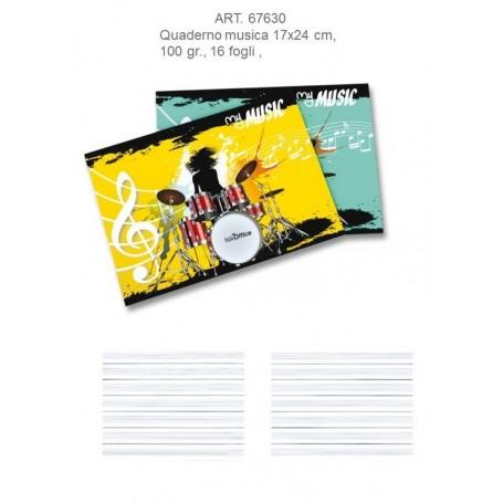 Ans 41042 - Quaderno Musica 16 Fogli Carta 80 gr. Conf.10 pz.