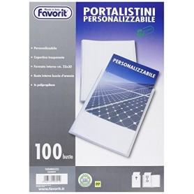 Favorit 460333 - Porta Listini Personalizzabile 100 Buste