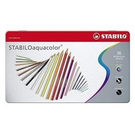 Stabilo 1636 - Pastelli Aquacolor Scatola Metallo 36 Colori