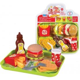 Rstoys 10386 - Blister Fast Food Hamburger e Patatine