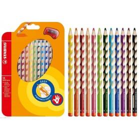Stabilo 33212 - Pastelli Colorati Easy Colors 12 Colori