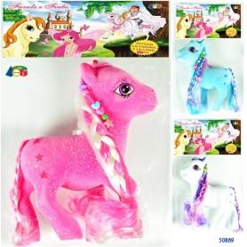 Ginmar 50869 - Busta Pony con Criniera e Perline Ass.