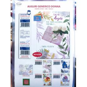 Cecami 33AG - Biglietti Auguri Generico Donna Conf.12 pz.
