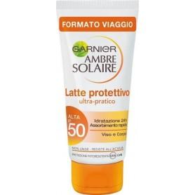 Garnier 5182118 - Latte Solare Ambre Solaire SPF50 Viso e Corpo 50 ml