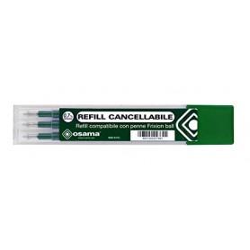 Osama 2997 - Refill Compatibile Frixion Verde Set 3 pz