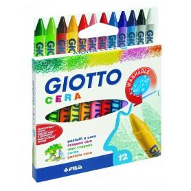 Fila 2812 - Giotto Pastelli a Cera Conf. 12 Colori