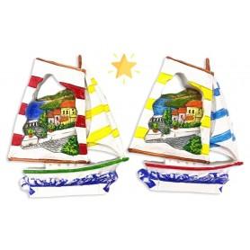 Zambiasi 5590905 - Magnete Barca con Paesaggio 2 Ass. Conf.12 pz