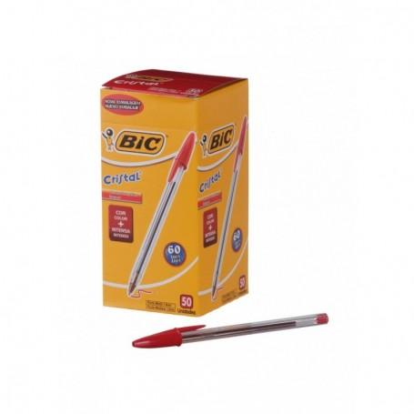 Bic 1296 - Penna Bic Cristal Rossa Conf. 50 pz.