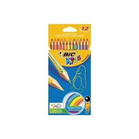 Bic 2250 - Pastelli Tropicolors Astuccio 12 pz.