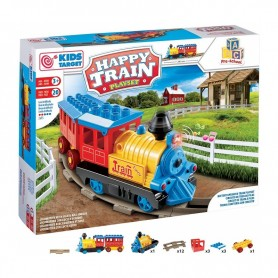 Rstoys 10095 - Playset Happy Train Trenino con Rotaie a Batteria