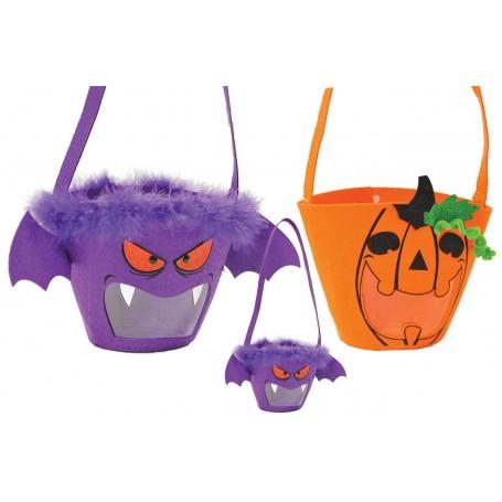 Ciao 31261 - Borsa Secchiello Halloween in Panno Assortite