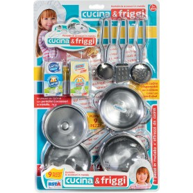 Rstoys 11006 - Blister Pentolini Metallo Cucina e Friggi