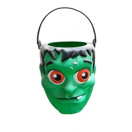 Ciao 31381 - Cestino Contenitore Halloween Mostro Verde 20 cm