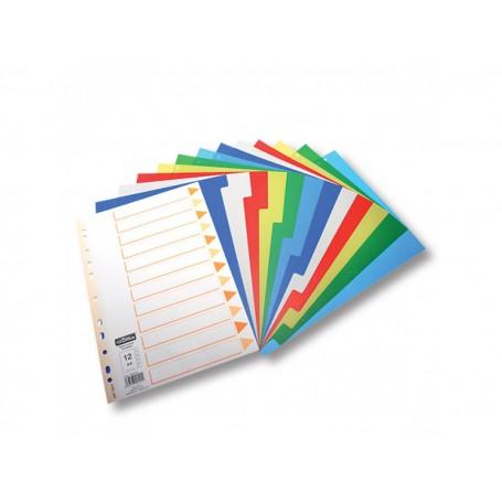 Ans 125 - Divisori Plastificati 12 Colori A4 conf.10