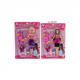Teorema 64027 - Blister Fashion Style Con Bambola 29cm e Accessori