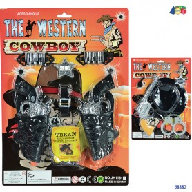 Ginmar 68882 - Blister Cow Boy 2 Soggetti Ass.