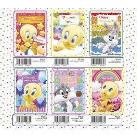 Marpimar WG01 - Biglietti Compleanno Looney Tunes 18x12 cm 6 Soggetti Conf. 12 pz