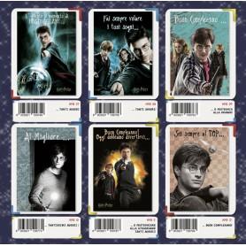 Marpimar HP07 - Biglietti Compleanno Harry Potter 18x12 cm 4 Soggetti Conf. 12 pz