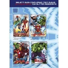 Marpimar TB13 - Biglietti Compleanno Avengers 18x12 cm 4 Soggetti Conf. 12 pz