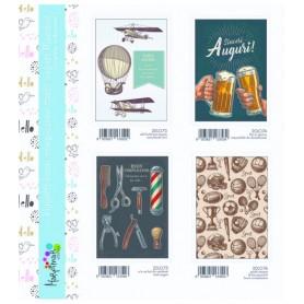 Marpimar 20L073 - Biglietti Compleanno Uomo 18x12 cm 4 Soggetti Conf. 12 pz