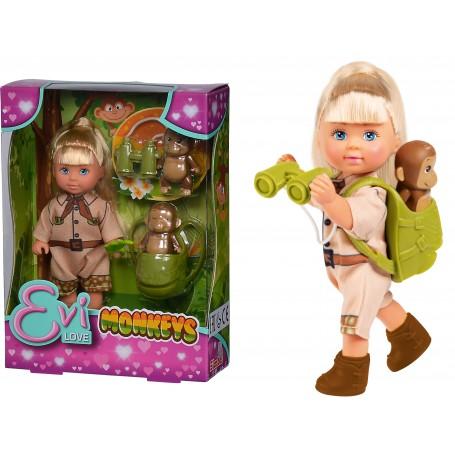 Simba 33481 - Evi Love - Evi con Scimmiette