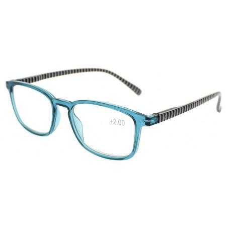 Fratelli Pesce 8129 - Occhiale Da lettura Rigato Azzurro +1,50
