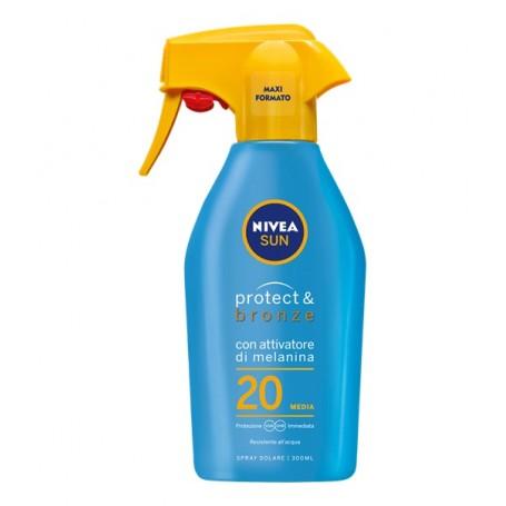 Nivea 86068 - Spray Solare Protegge & Abbronza SPF 20 300 ml