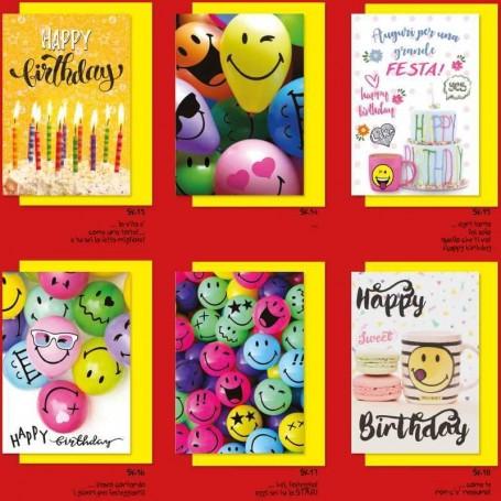 Marpimar ASK04 - Biglietti Auguri Smiley 11,5 x 17 cm Conf.12 pz