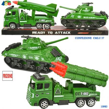 Ginmar 10983 - Camion Militare con missile e Carro Armato a Frizione