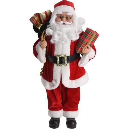 Koopman 200 - Babbo Natale Tessuto 37 cm Rosso