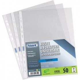Favorit 460120 - Buste Forate Universali Lisce Formato A4 22x30