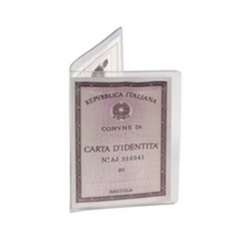 Favorit 0073 - Confezione 50 Porta Carta Di Identità Trasparente PVC