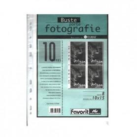 Favorit 9360 - Buste Porta Fotografie F.to 10x15 A4 8 Tasche Conf 10 pz.