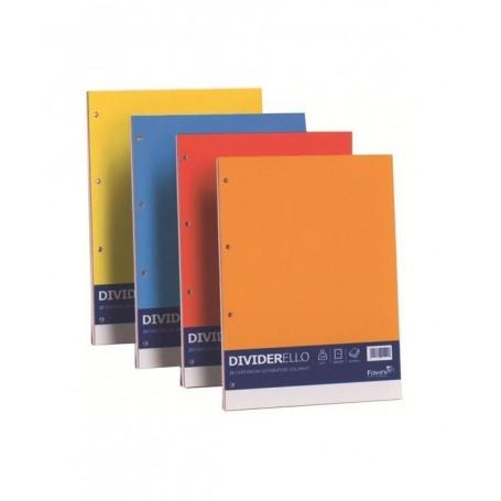 Favini 26922 - Confezione 10 Separatori Dividerello Cartoncino Colorati F.to A4 220 gr