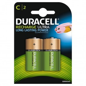 Duracell 5598 - Blister 2 Pile 1/2 Torcia Ricaricabili