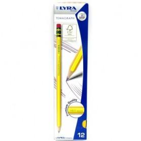 Fila 1150100 - Lyra - Matita Temagraph HB/2 Con Gommino Conf. 12 pz.