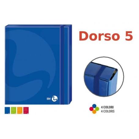 Bm 111060 - Portadocumenti Maxi Con Elastico F.to A4 Dorso 5 Cm